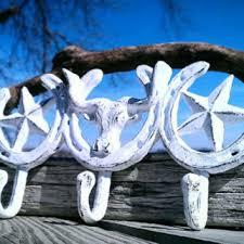 s a l e cast iron hooks longhorn star horseshoe hooks countr on horseshoe wall art star with best horseshoe wall decorations products on wanelo