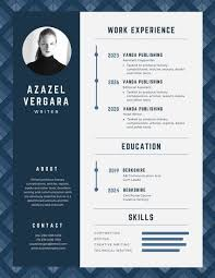 blue modern resume template blue elegant pattern modern resume templates by canva
