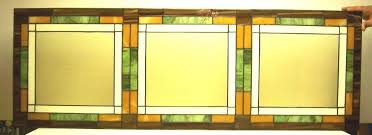 custom made mission style stained glass window panel w 3