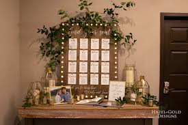 Diy Rustic Wedding Seating Chart Hazel Gold Designs