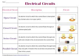 Electrical Circuit Chart Electric Circuits For Kids