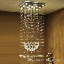 square crystal chandeliers led modern k9 chandelier lights fixture home indoor lighting hotel hall lobby parlor stair long hanging lamps hanging chandelier