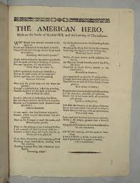 the american hero made on the battle of bunker hill and the  ballad