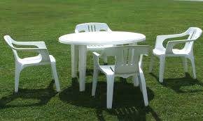 plastic outdoor table and chairs black resin patio