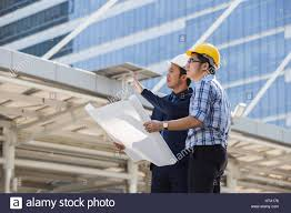 Buiding Manager Architect Engineer Project Manager Or Businessman Point To