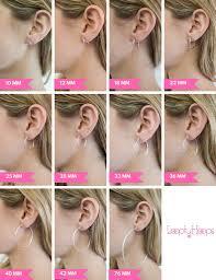 Mm Earring Chart Size Guide Looptyhoops