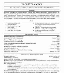 7035 Biotechnology Resume Examples Science Resumes Livecareer