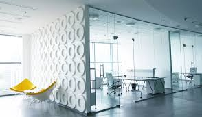 white office design. All-white Office With Desk, Chairs And White Accent Wall Design