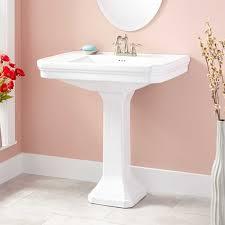 kacy pedestal sink large 4 centerset white