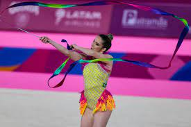 Natália Gaudio (Brasil), bronze na competição individual da ginástica  rítmica dos Jogos Pan-Americanos Lima 2019 - Fotos Publicas