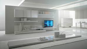 Small Picture Contemporary Lacquered Tv Wall Units With White Theme In Bright