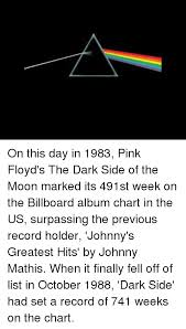 Chart Hits 1983 On This Day In 1983 Pink Floyds The Dark Side Of The Moon
