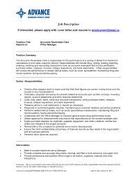 Accounts Receivable Clerk Resume Sample Resume For Study Accounts
