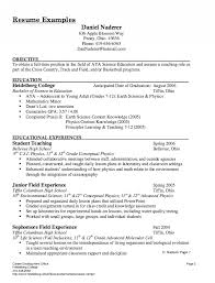 Substitute Teacher Resume Description Examples Of Teacher Resume