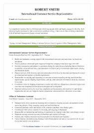 Examples Of Problem Solving Skills In Customer Service Sample Customer Service Resume International Representative