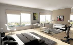 modern house interior. Modern Home Bedroom Inside With Grey Fur Rug And Relax White Chair Idea House Interior I