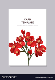 Red Wedding Card Design Floral Red Wedding Invitation Card Template Design