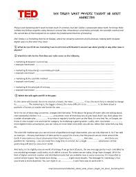 Movie Worksheet: TED- What Physics Taught Me about Marketing ...