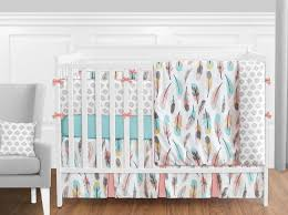 feather baby bedding 9 piece girls crib set by sweet jojo designs