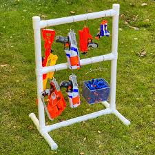 Diy nerf gun storage posted by kim conner | feb 15, 2016 | cricut projects , diy and crafts , home decor , organization , tutorial | 7 | if you're a mom of boys, or adventurous girls, then you know the struggle. Diy Nerf Gun Storage Rack The Handyman S Daughter