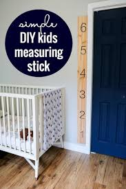 Remodelaholic Super Easy Kids Measuring Ruler Diy Growth Chart