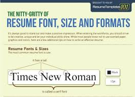 The Perfect Resume Font Size And Formats Infographic Jobcluster