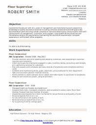 Sample Zoning Supervisor Resume Floor Supervisor Resume Samples Qwikresume