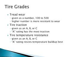 Tire Ratings Chart Traction Ppt Tire Wheel And Wheel Bearing Fundamentals Powerpoint