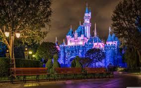 disney castle night view 3840x2400