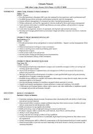 Indirect Procurement Resume Samples Velvet Jobs