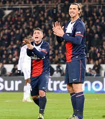 Marco Verratti Et Zlatan Ibrahimovic Wide Foto von Gasper | Fans teilen  Deutschland Bilder