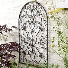 spanish decorative metal garden wall art trellis on wall art garden uk with spanish decorative metal garden wall art trellis amazon uk