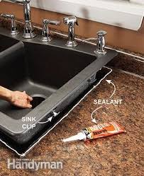Kitchen How To Install Kitchen Sink  How To Plumb A Double Sink Kitchen Sink Mounting Clips