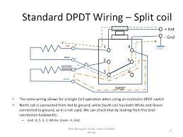 series parallel wiring diagram for 4 conductor humbucker pickups Wiring Split Humbucker Dpdt Pot split parallel wiring 10; 11 standard dpdt Dpdt Relay Wiring