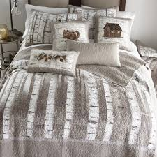 birch forest quilted bedding collection