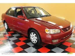 2001 Impulse Red Toyota Corolla S #51723941 | GTCarLot.com - Car ...