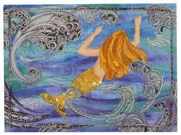 Free Mermaid Applique Pattern | Mermaids Garden Fusible Applique ... & Mermaid Quilt!! I wish my grandma was still here to make Eva a Mermaid Adamdwight.com