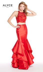 Long Designer Prom Dress With A Trumpet Skirt Alyce Paris 60215 Trumpet Skirt Prom Dress