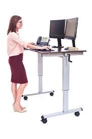 luxor standup cf48 dw stand up desk crank adjule 48
