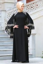 Neva Style Evening Dress Lace Detailed Black Hijab Dress