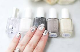 Essie Nail Polish Designs Mani Monday Marble Nails Tutorial Nail That Accent