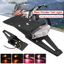 <b>Universal Integrated</b> Motorcycle Rear Fender LED <b>Brake</b> Stop Turn ...