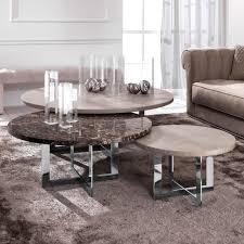 luxury nest of round coffee tables