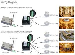 rgbw wireless touch screen controller rgb wireess led controller installation