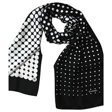 chanel scarf. chanel scarves silk black ref.51286 scarf