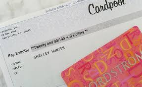 check given for gift card
