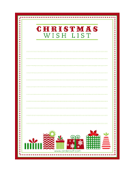 Christmas Wish List Printable FREE Printable Letter To Santa Christmas Wish List And Tag 3