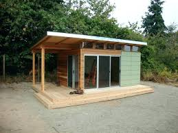 outdoor office shed.