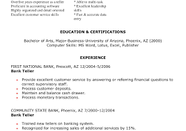 Sample Resume For Bank Jobs With No Experience Sample Teller Resume Jobs Bank No Experience For In Banks Cover 29