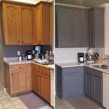 Two Updated Oak Kitchens Painting Tips Old Kitchen Cabinets